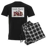 French Mastiff Men's Dark Pajamas