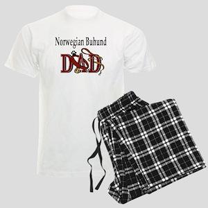 Norwegian Buhund Dad Men's Light Pajamas