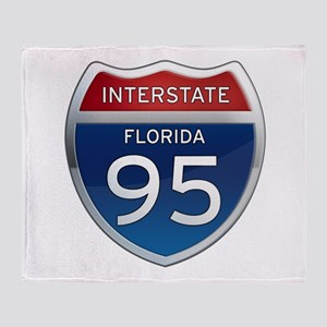 Interstate 95 - Florida Throw Blanket