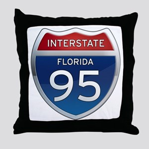 Interstate 95 - Florida Throw Pillow