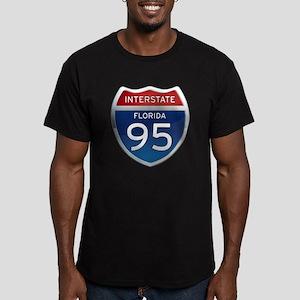 Interstate 95 - Florida Men's Fitted T-Shirt (dark