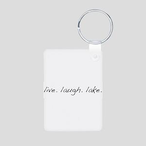 Live. Laugh. Lake. Aluminum Photo Keychain