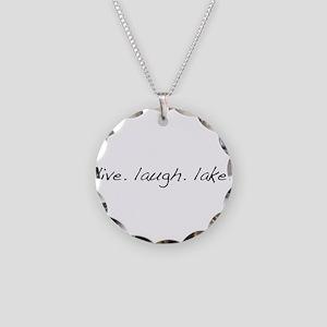 Live. Laugh. Lake. Necklace Circle Charm
