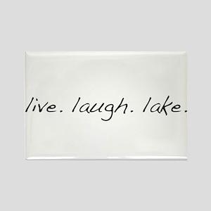 Live. Laugh. Lake. Rectangle Magnet