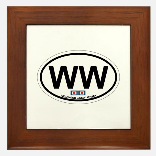 Wildwood NJ - Oval Design Framed Tile