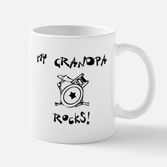 My Grandpa Rocks Drums Mug
