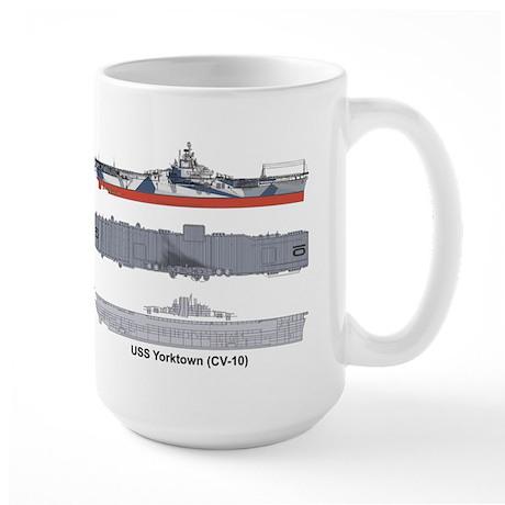 USS Yorktown CV-10 Large Mug