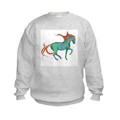 mosaic horse Sweatshirt