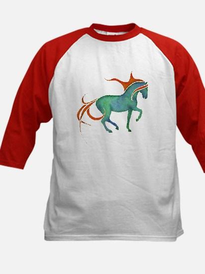 mosaic horse Kids Baseball Jersey