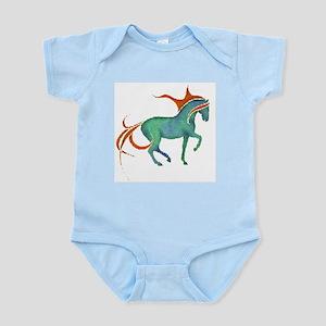 mosaic horse Infant Creeper