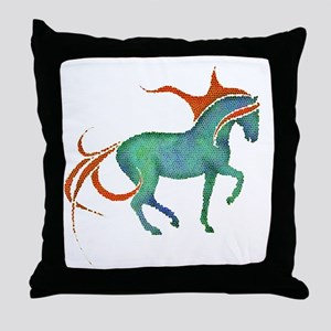 mosaic horse Throw Pillow