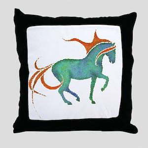 mosaic horse Throw Pillow