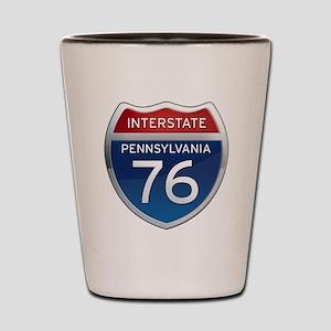 Interstate 76 - Pennsylvania Shot Glass