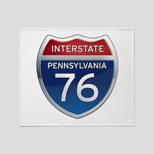 Interstate 76 - Pennsylvania Throw Blanket