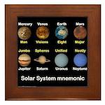 Planets Framed Tile