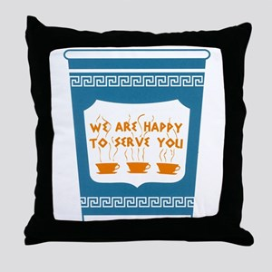 """NYC """"Blue Cup"""" Throw Pillow"""