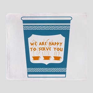 """NYC """"Blue Cup"""" Throw Blanket"""