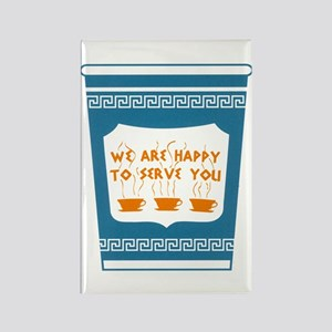 """NYC """"Blue Cup"""" Rectangle Magnet"""