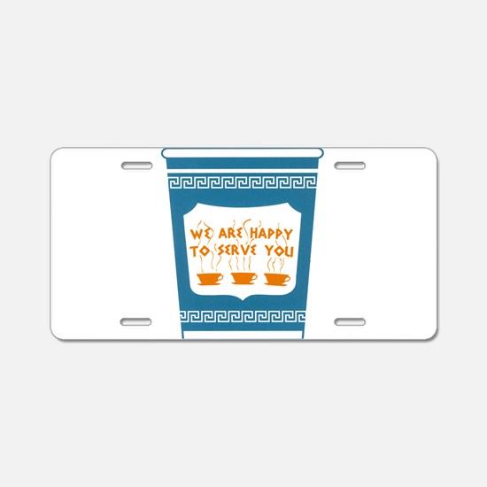 """NYC """"Blue Cup"""" Aluminum License Plate"""