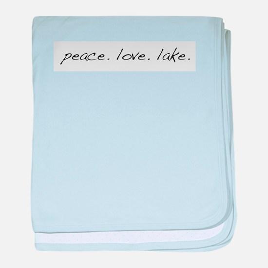 Peace. Love. Lake baby blanket