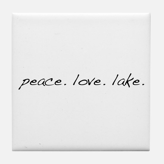 Peace. Love. Lake Tile Coaster