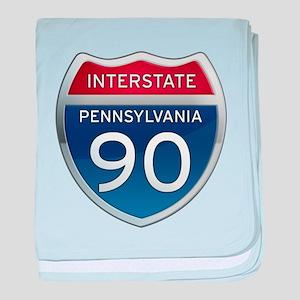 Interstate 90 - Pennsylvania baby blanket