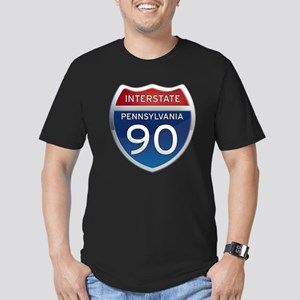Interstate 90 - Pennsylvania Men's Fitted T-Shirt