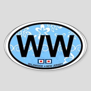Wildwood NJ - Oval Design Sticker (Oval)