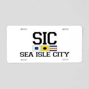 Sea Isle City NJ - Nautical Flags Aluminum License