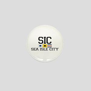 Sea Isle City NJ - Nautical Flags Mini Button