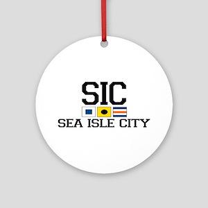 Sea Isle City NJ - Nautical Flags Ornament (Round)