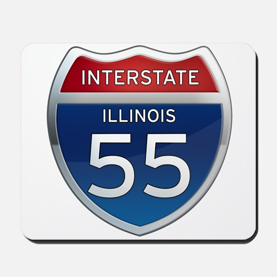 Interstate 55 - Illinois Mousepad