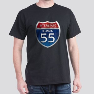 Interstate 55 - Illinois Dark T-Shirt