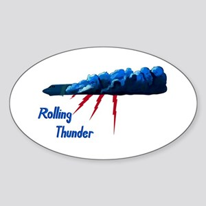 Rolling Thunder Sticker (Oval)