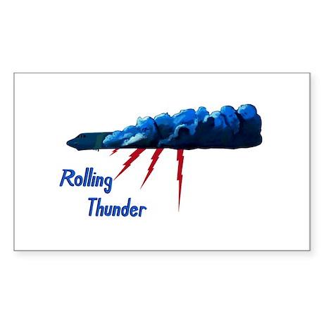 Rolling Thunder Sticker (Rectangle)