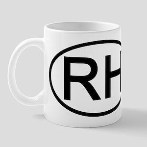 RH - Initial Oval Mug