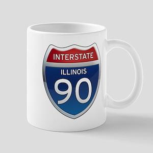 Interstate 90 - Illinois Mug