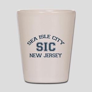 Sea Isle City NJ - Varsity Design Shot Glass