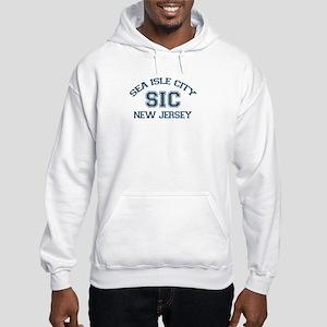 Sea Isle City NJ - Varsity Design Hooded Sweatshir
