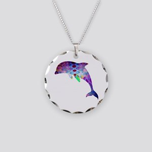 Dolphin Necklace Circle Charm