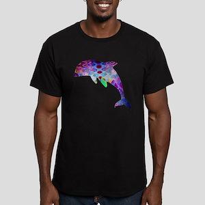 Dolphin Men's Fitted T-Shirt (dark)