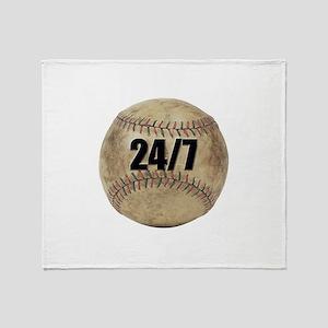 24/7 Baseball Throw Blanket