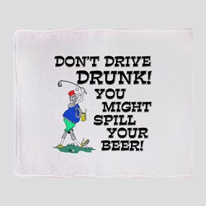 Drive Drunk Golf Throw Blanket