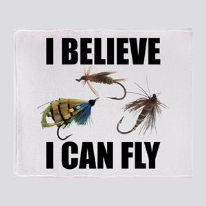 I Believe I Can Fly Throw Blanket