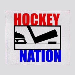 Hockey Nation RWB Throw Blanket
