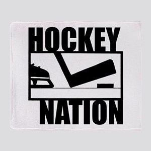 Hockey Nation Throw Blanket