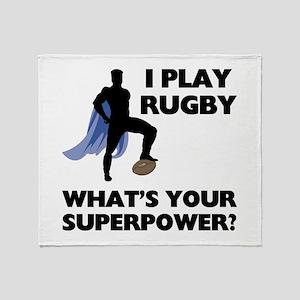 Rugby Superhero Throw Blanket
