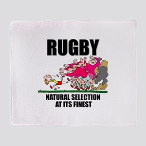 Natural Selection Rugby Throw Blanket