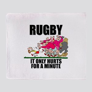 It Only Hurts Throw Blanket