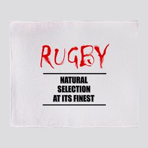 Rugby Natural Selection Throw Blanket